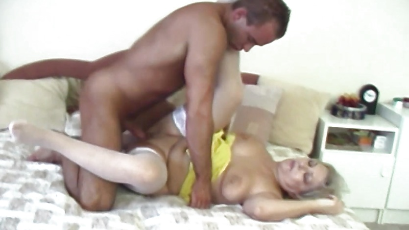Russian electrician fucks an old fat blonde slut 10