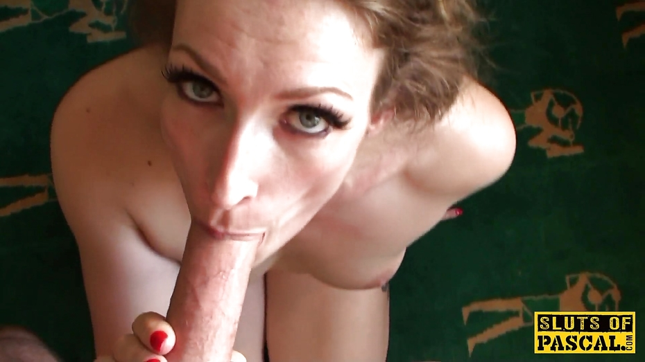 Inked subslut dominated and fed with master pascals cum
