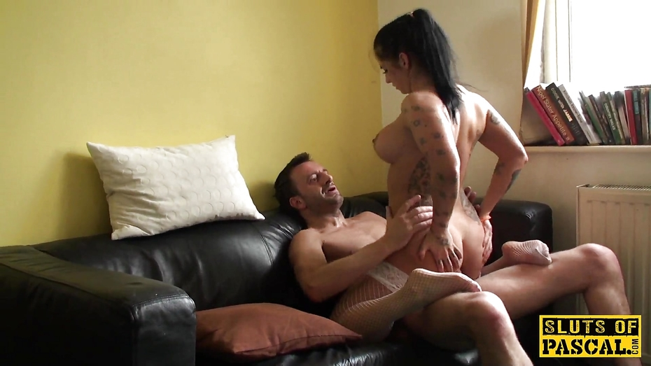British sub skank railed cowgirl in stockings 3
