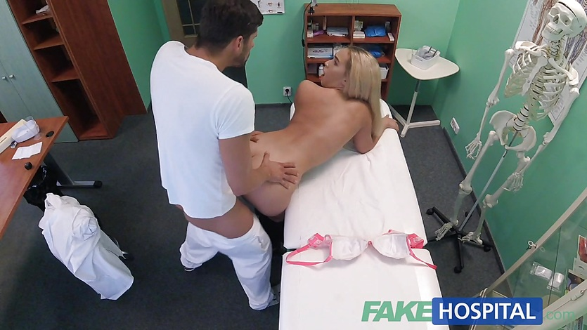Fakehospital buxom russian babe swallows cumload 8