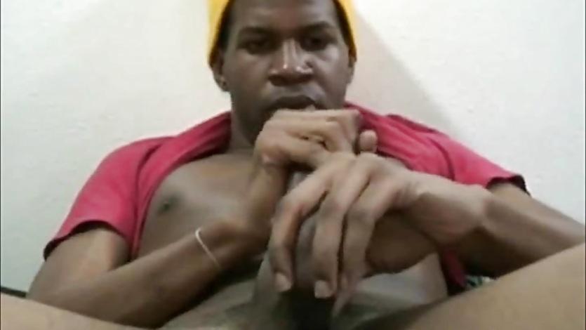 Horny Gay Gangsta Masturbates Ebony Cock