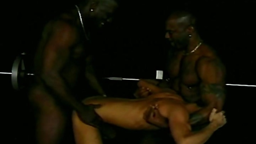 Interracial Threesome with Black Gay Gangstas