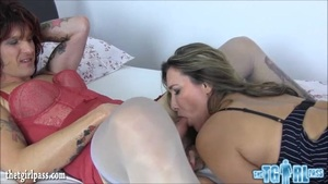 Hot Girl Throws Tattoo Tgirl Big Cock And Fuck Her Ass
