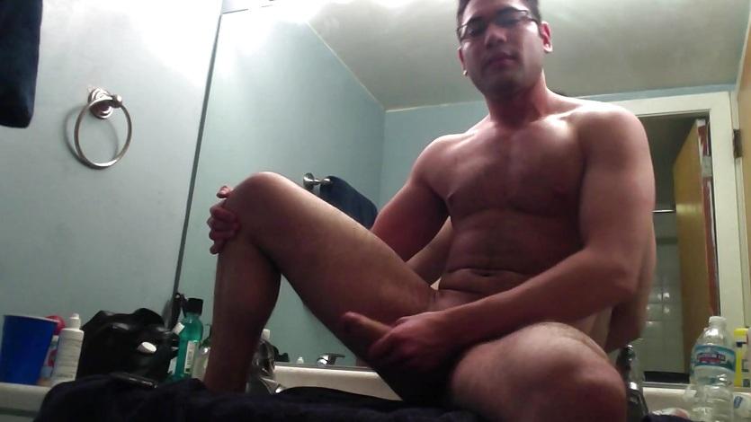 Amateur Josh Jacking In The Bathroom