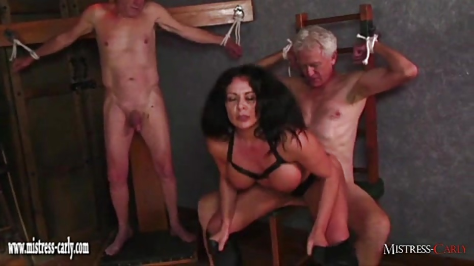 Hot mistress feeds cuckold slave her hot spunky pussy after big cock fuck 9