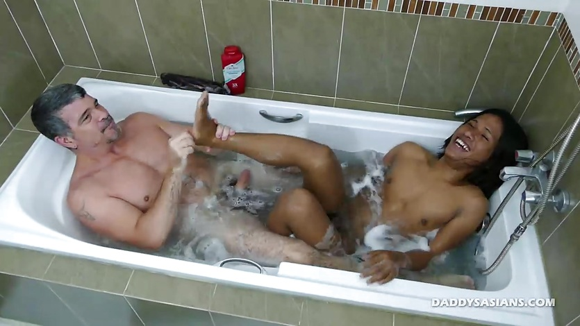 Daddy Fucks Asian Boy In Shower