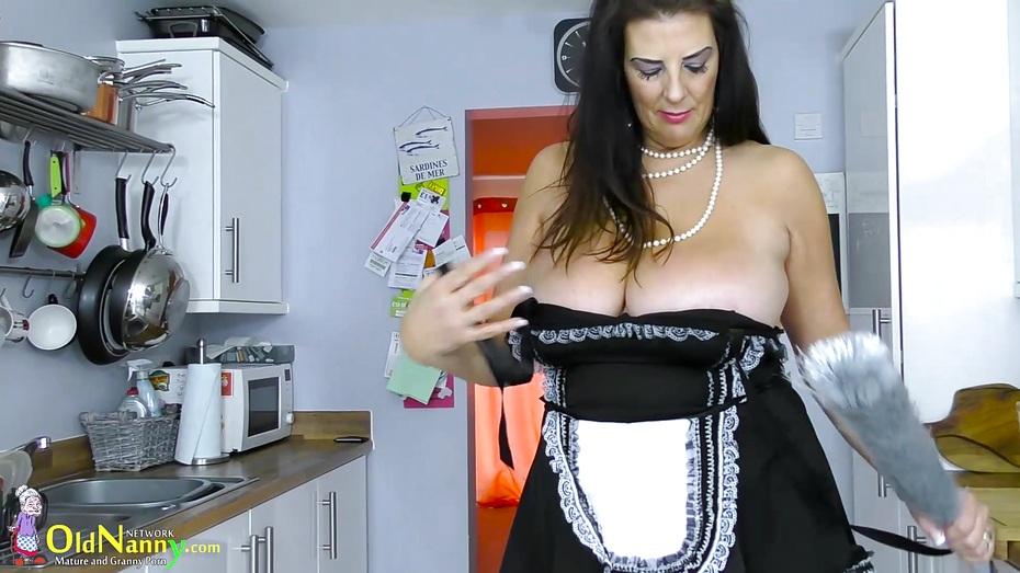 Europemature busty grandma lulu solo masturbation - 3 part 6
