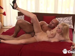 Big boobs blonde milf gets her tits jizzed preview