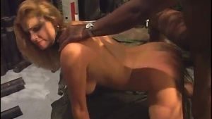 Blond Maid With A Pink Pussy Gives Her An Ass Black Bull