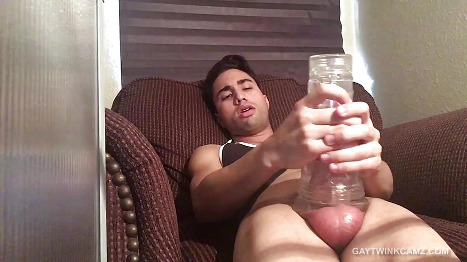 Latin Twink Lucas Stroking Big Meat