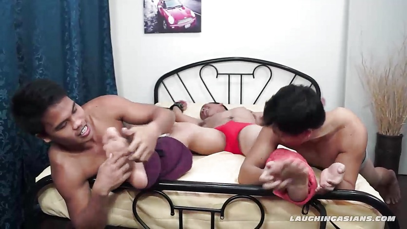 Twink Asian Boy CJ Tied and Tickled