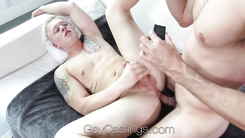 GayCastings Newcomer Leo Luckett fucked and facial