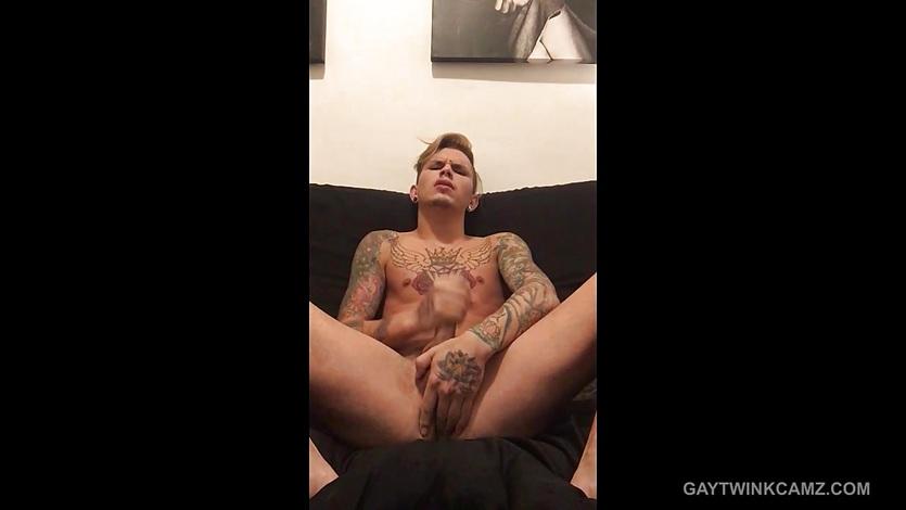 Amateur Seth Knight Stroking Big Cock
