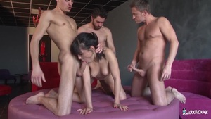 La Cochonne - Wild Group Sex With A Luscious French Child
