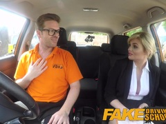 Fake Driving School Posh horny busty examiner gets stuffed
