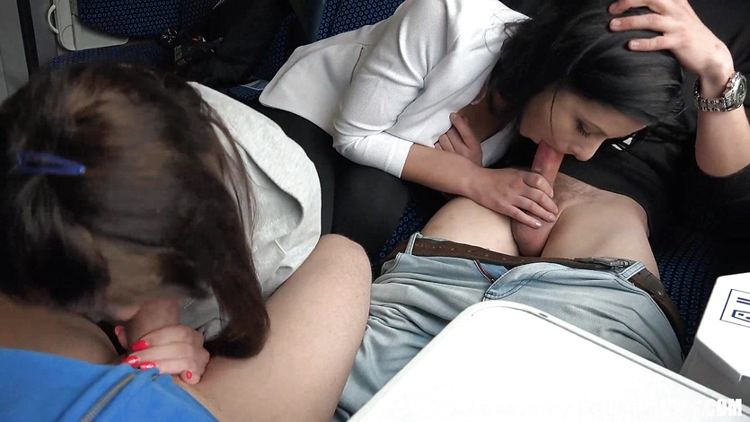 tube sex in train