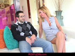Karups - Janna Hicks Fucks Neighbor As Daughter Spies