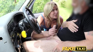 A Fake Mother Of A Taxi With Natural Boobs Gets A Great British Member