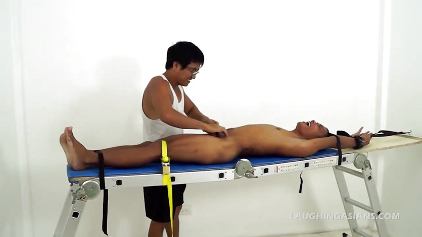 Asian Boy Javey Racked and Tickled