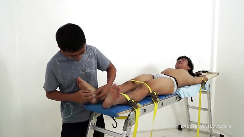 Asian Boy Ronny Tied and Tickled