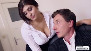 Bums Buero - Wild Office Sex Ends With Sperm On Tits