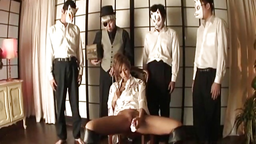 Kei doll uses sex toys in front of fellows 7