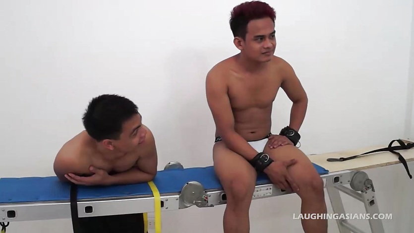 Asian Boy Willy Bound and Tickled