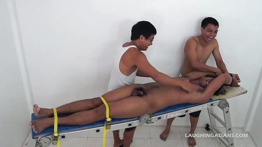 Asian Boy Derik Bound and Tickled