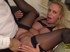 Kinky Milf Sasha Steele throated and fucked hard in ass