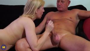 Blonde Mature Riding A Hard Cock