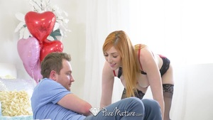 Puremature lauren phillips surprises boyfriend with anal