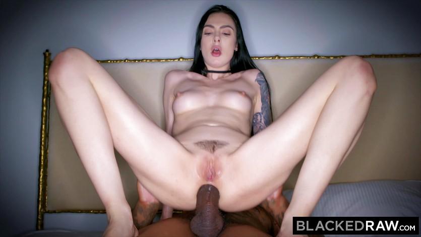 Blackedraw riley reid rims black stud in hotel room 6
