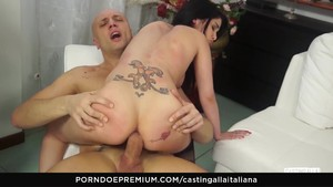 Casting Down Italiana - A Cowboy Rides In Anal Listening