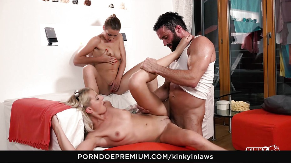 Kinky inlaws hot blonde taboo trio sex with stepdad 5