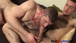 Threesome gay naked sword tube