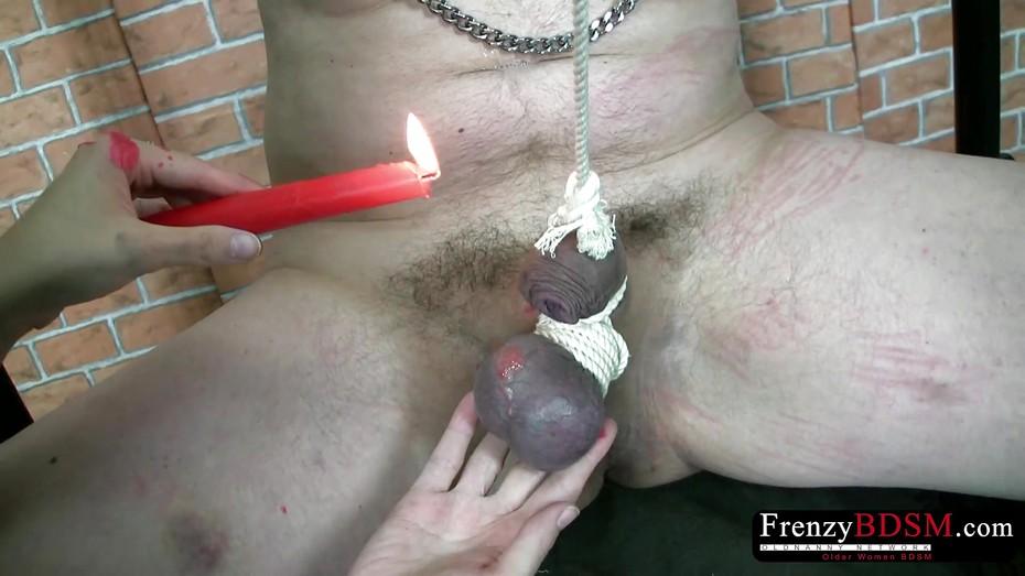 Frenzybdsm Cock And Balls Vaxing Und Bondage