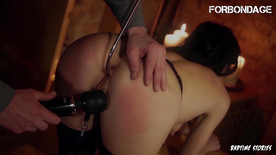 FORBONDAGE - BDSM Fingering Punishment For Sexy Deutsche Brunette